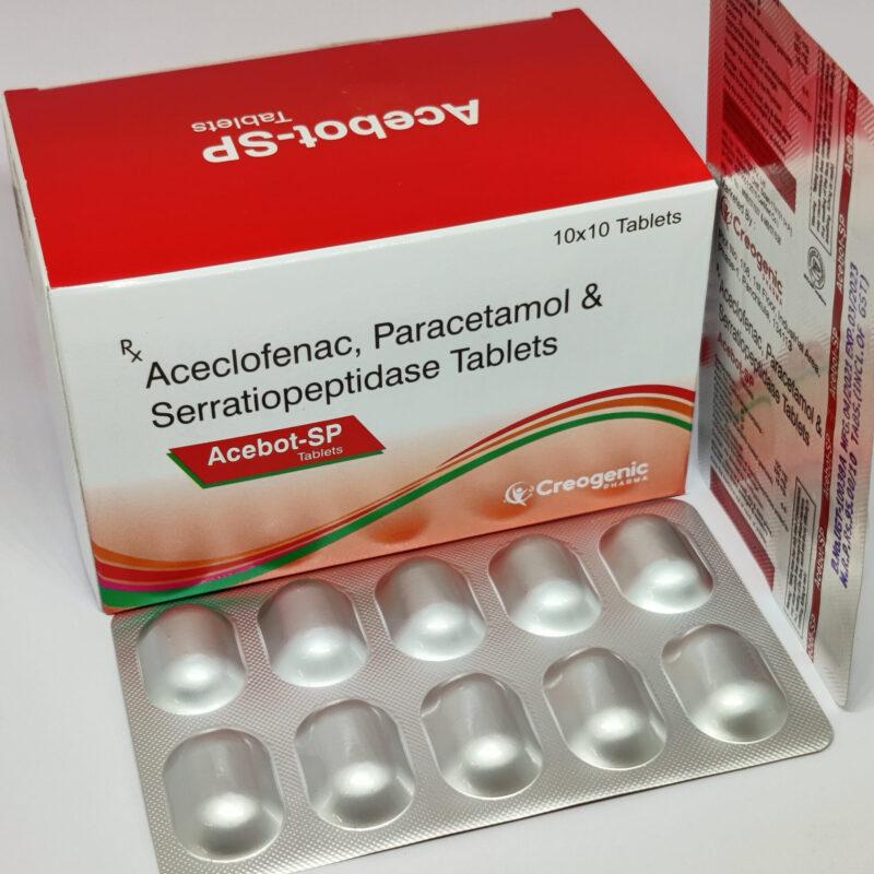 Aceclofenac 100 MG + Paracetamol 325 MG + Serratiopeptidase 15 MG