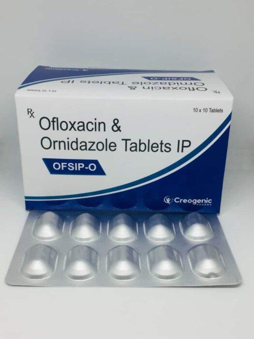 Ofloxacin 200 MG + Ornidazole 500 MG