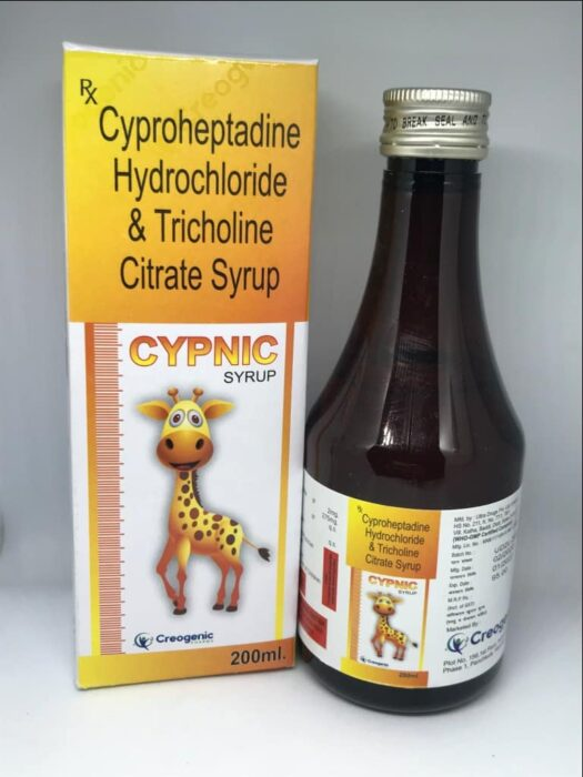 Cyproheptadine 2 MG + Tricholine 275 MG + Sorbitol