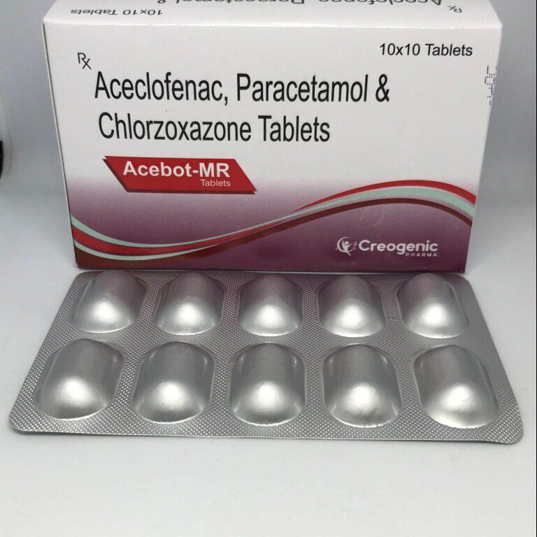 Aceclofenac 100 MG + Paracetamol 325 MG + Chlorzoxazone 250 MG