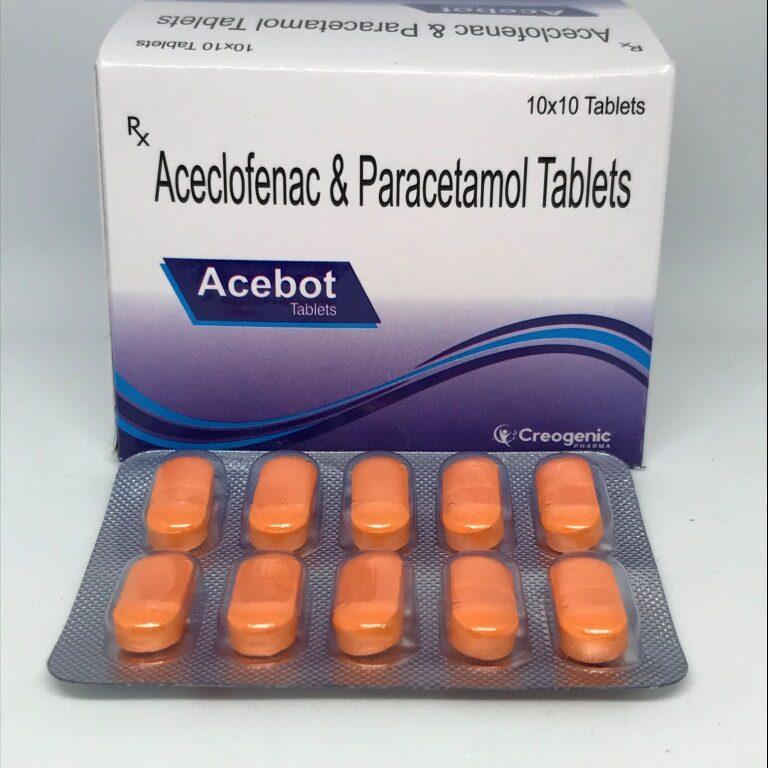 Aceclofenac 100 MG + Paracetamol 325 MG